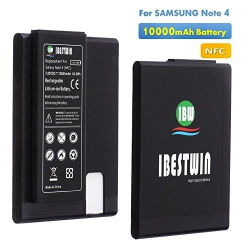 IBESTWIN Extended Battery For Samsung Galaxy Note 4 with NFC (10000MAH) cdfe3d2831d57