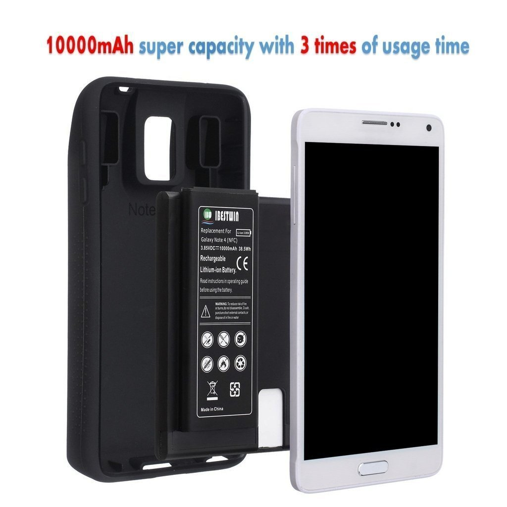 Ibestwin Extended Battery For Samsung Galaxy Note 4 With Nfc 10000mah