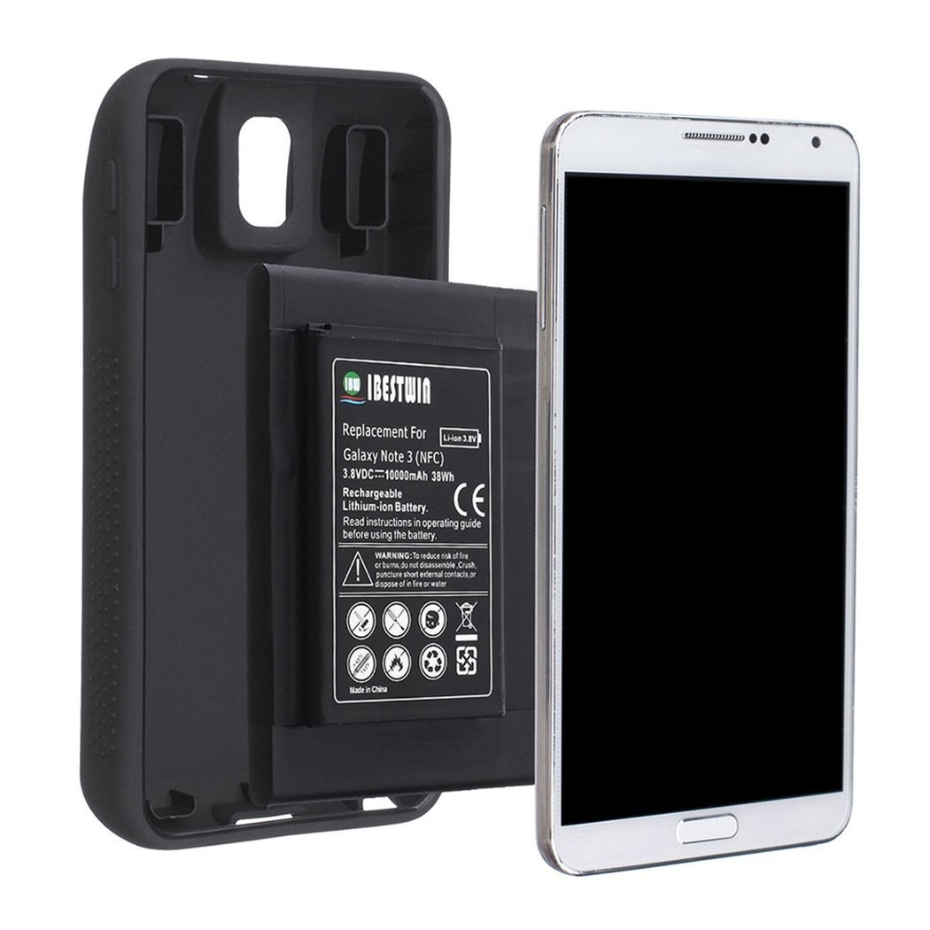 Ibestwin Galaxy Note 3 Extended Battery For Samsung Mini Audio Analysts Using 4017 With Tpu Protective Case Nfc Google Wallet Compatible10000mah