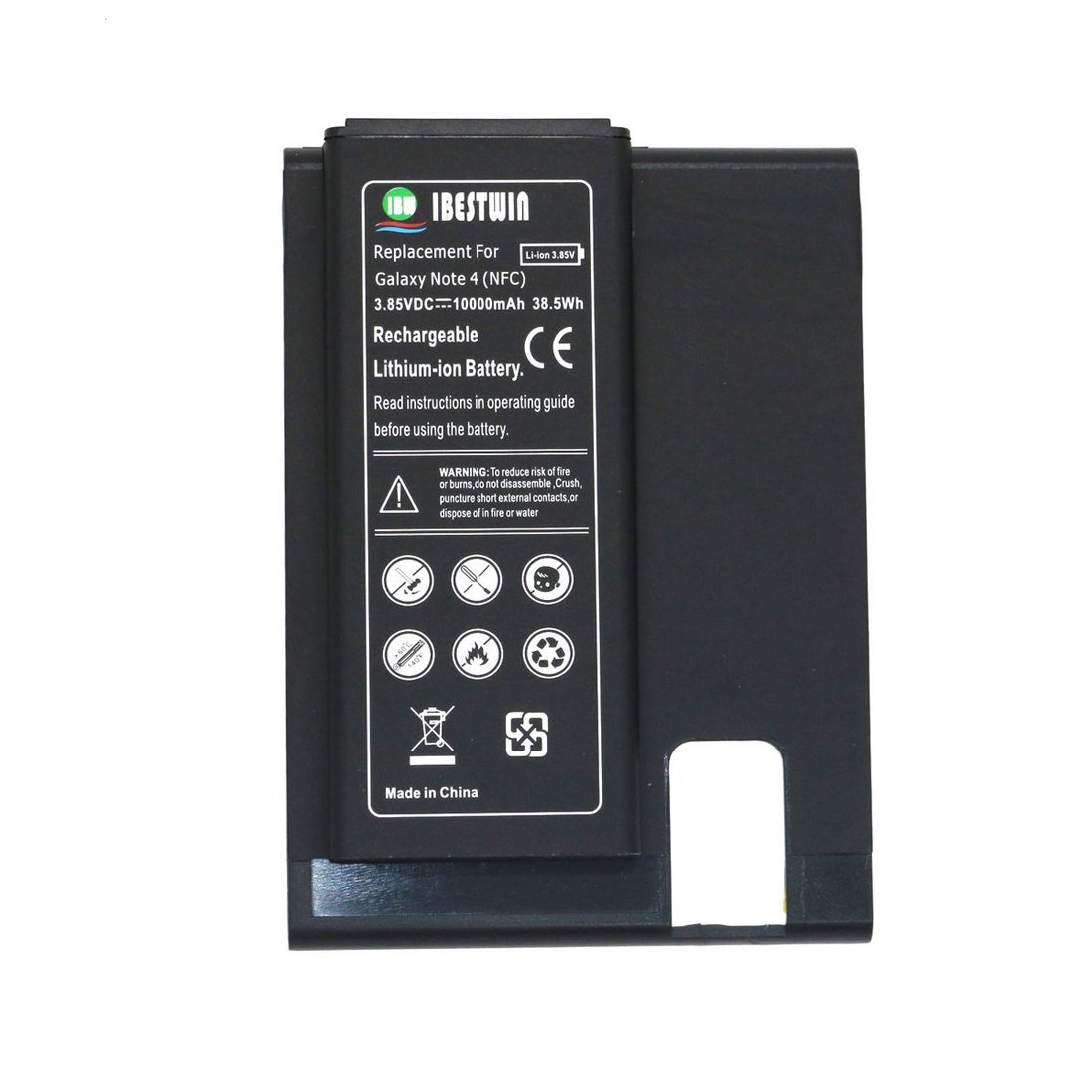 749d0e9adf1a IBESTWIN Extended Battery For Samsung Galaxy Note 4 with NFC (10000MAH)
